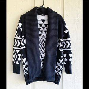 Express Aztec Sweater Cardigan